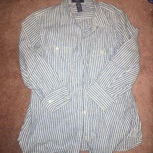 3/$20 💎Denim striped Shirt Button Ralph Lauren